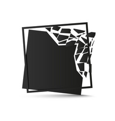 shattered black square background vector image