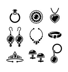 Jewelry icons vector image