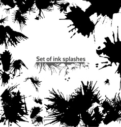 Set of ink splashes vector