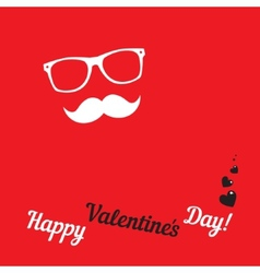 Greeting card for hipsters happy valentines day vector