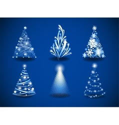 Modern christmas trees vector