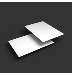 Stack of pages with curved corners business vector