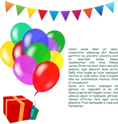 Birthday background vector