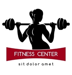 Fitness Center or Gym Logo vector image