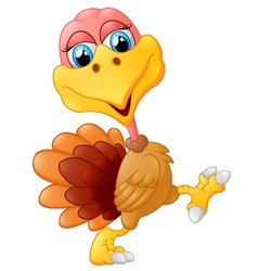 Cute turkey cartoon vector