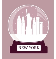 New york christmas glass ball vector