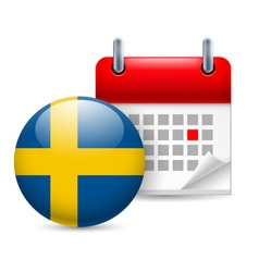 Icon of national day in sweden vector