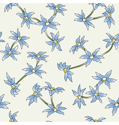 Seamless of a blue flowers vector