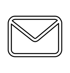 Message lineal icon design vector