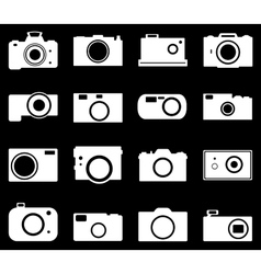 Camera icons set vector