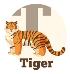 ABC Cartoon Tiger vector image