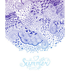 Abstract decoration invitation card with ornate vector