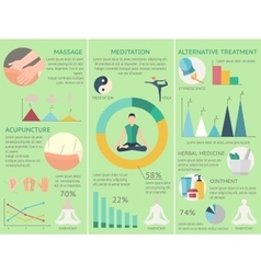Acupuncture infographics set vector