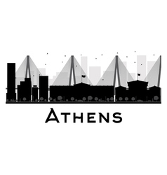 Athens silhouette vector