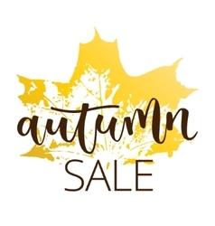 Autumn sale hand written inscription vector