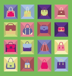 bags icons flat 2 38 vector image