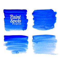 Blue paint spot banners set vector