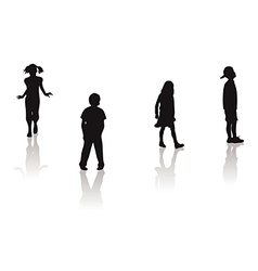 boy girl silhouettes vector image vector image