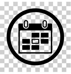 calendar day rounded icon vector image