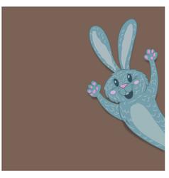 easter bunny closeup vector image