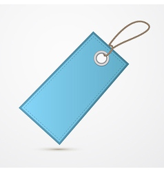 Empty blue label tag with string vector