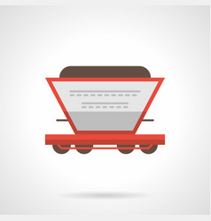 Fertilizer railroad car flat icon vector