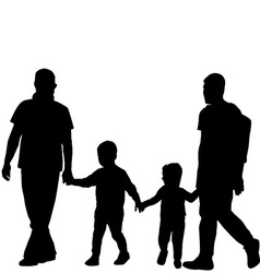 Gay family couple vector image vector image