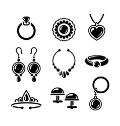 Jewelry icons vector