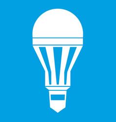 Led bulb icon white vector