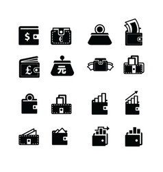 money in wallet and status icon vector image vector image