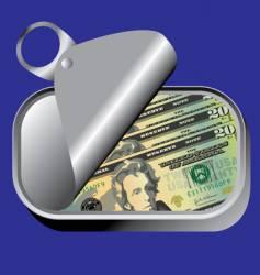 money jar vector image vector image