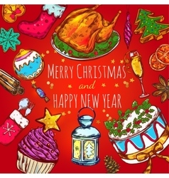 New year greeting background vector