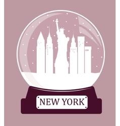 New york christmas glass ball vector