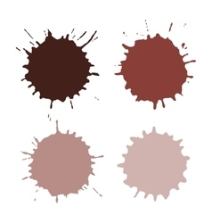 Paint Spots Or Blots vector image