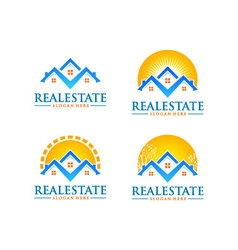 real estate logo design realty logo vector image vector image
