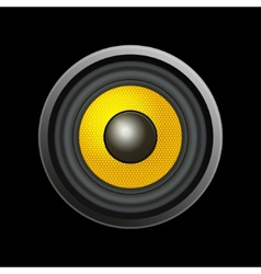 Speaker isolated on black background vector