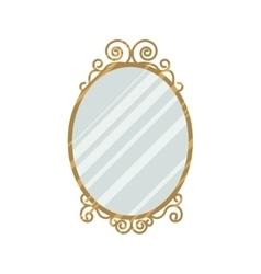 Vintage style mirror vector