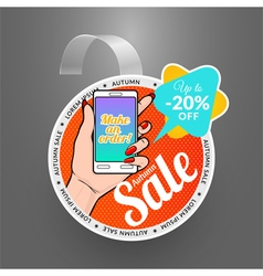 Round wobbler design template autumn sale event vector