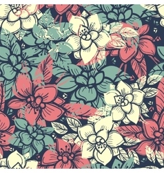 Boho floral seamless pattern vector image