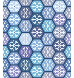 Seamless geometric pattern with snowflakes vector