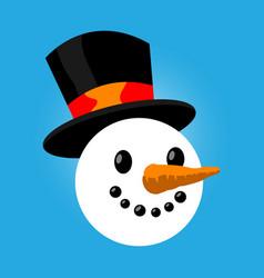 Snowman cartoon vector