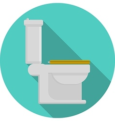 Flat icon for toilet vector