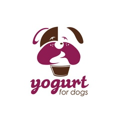 Yogurt for dogs concept design template vector