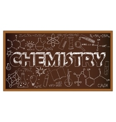 School board doodle with chemistry symbols vector