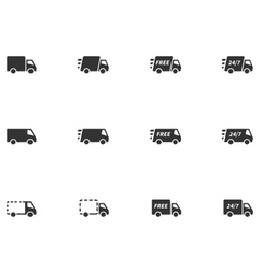 12 delivery icons vector