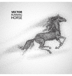 Running horse particles design vector