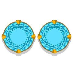 Diamond earrings vector