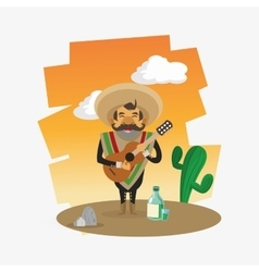 Colorful mexican design over white background vector
