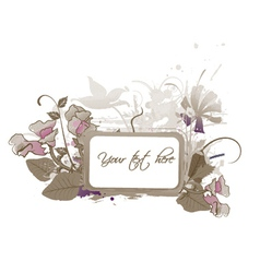 Floral frame with splash vector