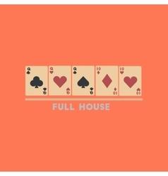 flat icon on stylish background full house vector image